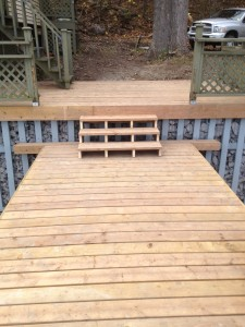 post dock shore deck